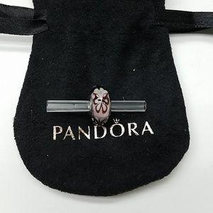 💕Authentic Pandora Charm, purple/Pink Butterflie